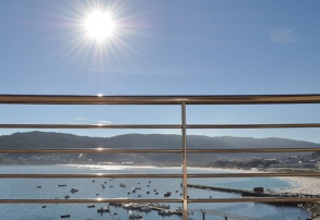 Vistas Terraza Habitación Hostal Residencia Bahía Laxe